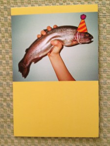It's a freshly-caught birthday cod for my blog - get it? Go fish...