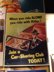 This vintage World War II poster is as dark as a literary device gets!