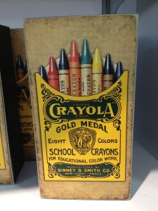 Circa 1903, business networking resources included Crayola's original 8-pack...