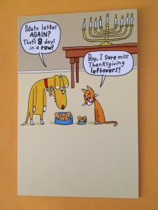 This is the closest thing to a Thanksgivukkah card I could find. Happy Hanukkah and Thanksgiving!