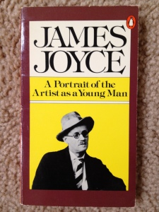 Here's a portrait of James Joyce (as a not-so-young man)--all the book covers for Ulysses are boring!