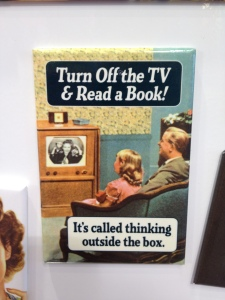 "A book is the best ""thinking outside the box"" gift you'll ever give someone..."