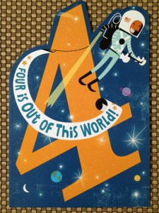 Being the proud owner of a four-year-old blog is indeed out of this world!